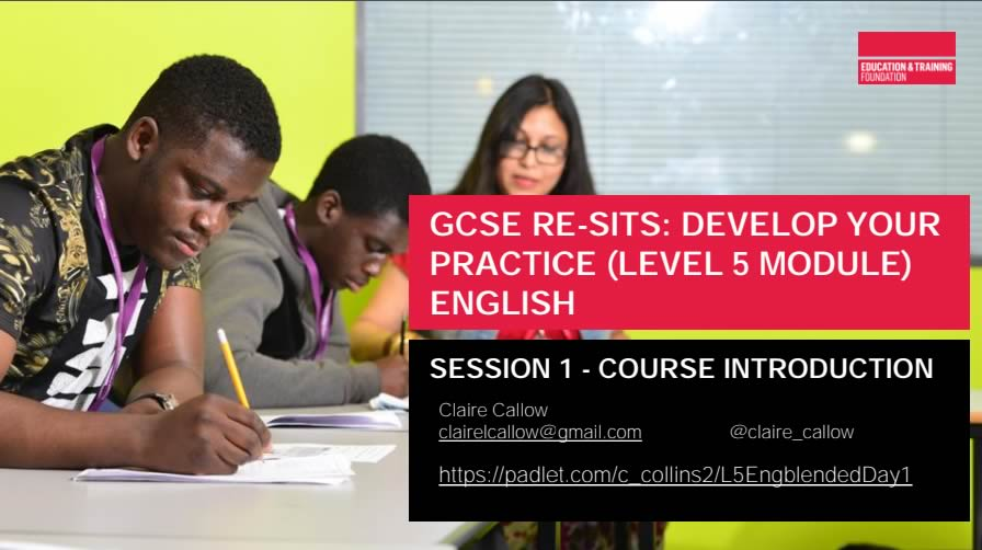 LEVEL 5 ENGLISH GCSE – SESSION 1