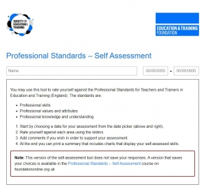 ETF Professional Standards self-assessment Tool