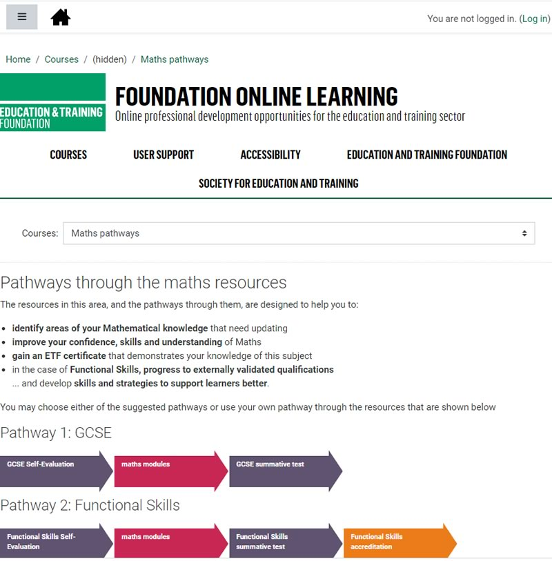 ETF Functional Skills Mathematics summative assessment tool